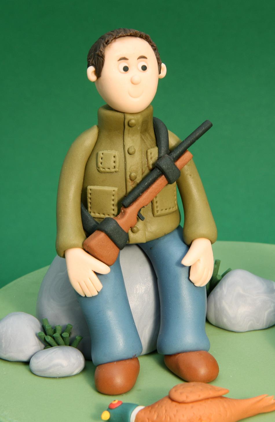 Hunting Themed Birthday Cake 7 Inch Round Chocolate Sponge
